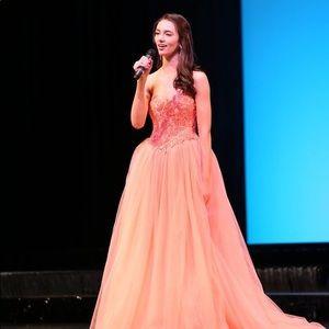 Tarik Ediz Coral Ballgown - Pageant